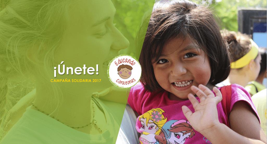 """Solidaridad en Marcha lanza campaña """"Educando Corazones 2017"""", que busca apadrinar a niños de escasos recursos en su etapa escolar."""