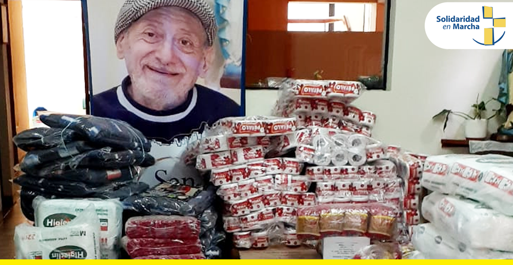 Albergue San Lucas recibe donación de alimentos.