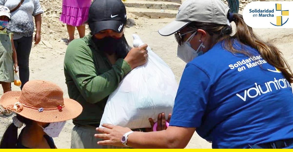 Cross International realiza donación de canastas solidarias a familias más necesitadas en Pamplona Alta